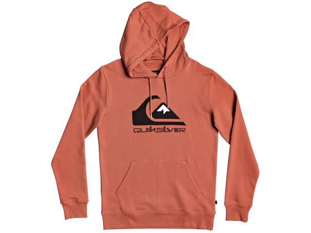 Quiksilver Comp Logo Screen Manteau à capuche en polaire Homme, redwood